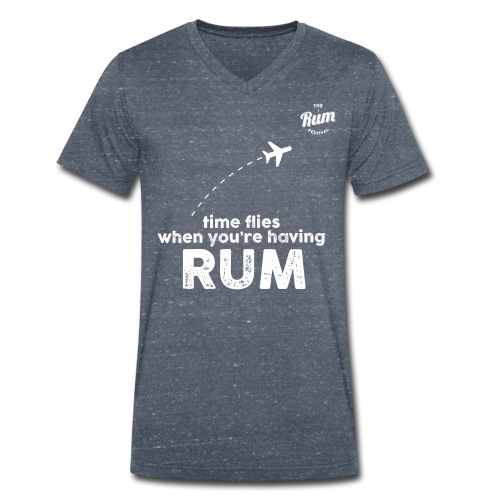TIME FLIES WHEN YOU'RE HAVING RUM - Men's Organic V-Neck T-Shirt by Stanley & Stella
