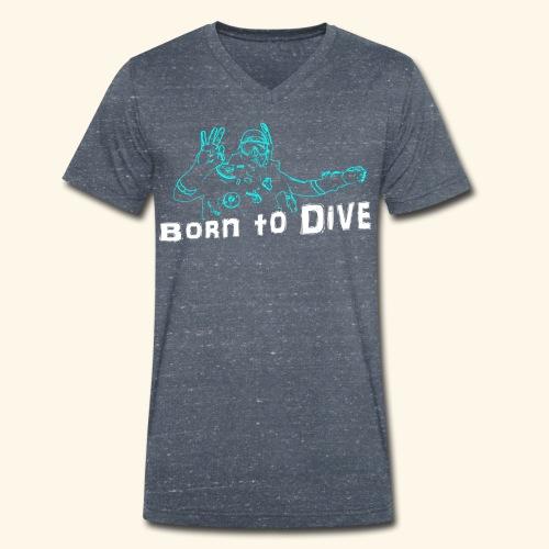 ScubaBornToDive001 - Mannen bio T-shirt met V-hals van Stanley & Stella