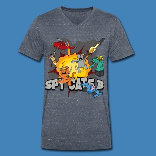 Spy Cats 3 - Mannen bio T-shirt met V-hals van Stanley & Stella