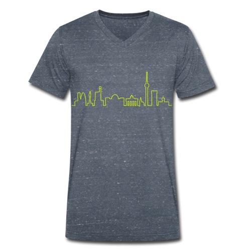 Skyline di Berlino - T-shirt ecologica da uomo con scollo a V di Stanley & Stella