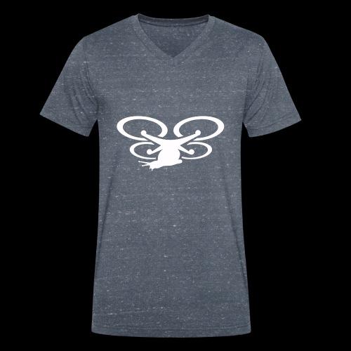 Einseitig bedruckt - Männer Bio-T-Shirt mit V-Ausschnitt von Stanley & Stella