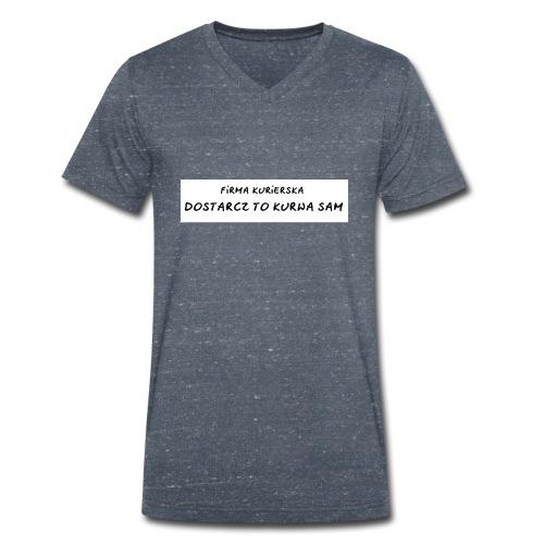 firma kurierska tyl - Ekologiczna koszulka męska z dekoltem w serek Stanley & Stella