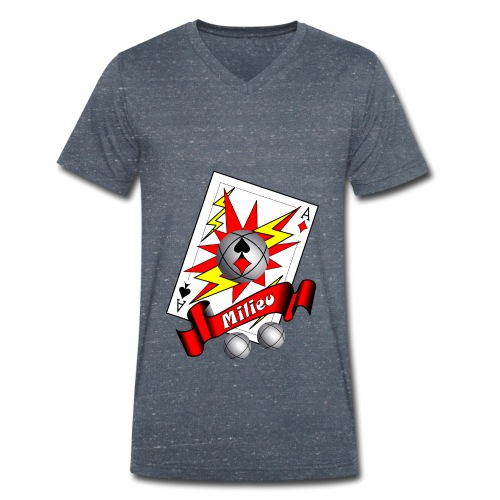 t shirt petanque milieu as des pointeurs as du tir - T-shirt bio col V Stanley & Stella Homme