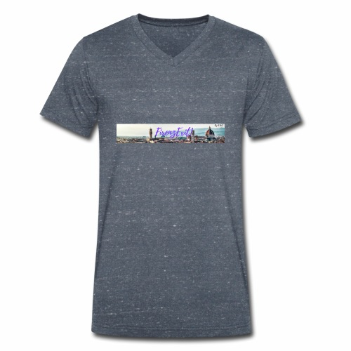 FirenzExit - T-shirt ecologica da uomo con scollo a V di Stanley & Stella