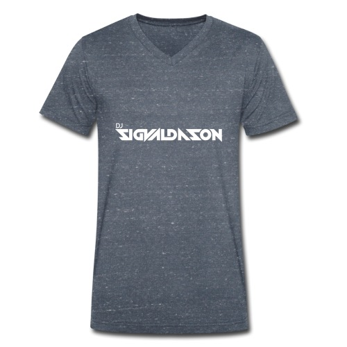 DJ logo hvid - Økologisk Stanley & Stella T-shirt med V-udskæring til herrer