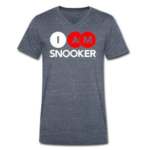 I AM SNOOKER - Men's Organic V-Neck T-Shirt by Stanley & Stella
