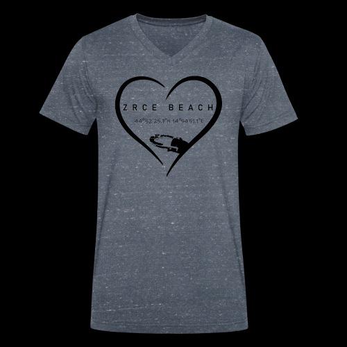 Zrce Beach love schwarz - Männer Bio-T-Shirt mit V-Ausschnitt von Stanley & Stella