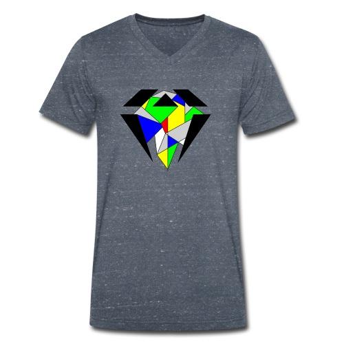 J.O.B. Diamant Colour - Männer Bio-T-Shirt mit V-Ausschnitt von Stanley & Stella
