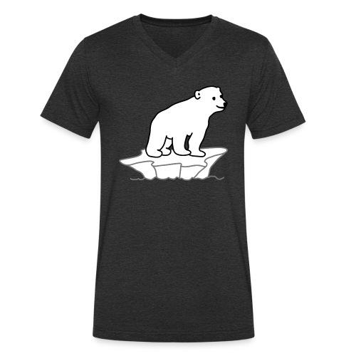 Eisbaer - Männer Bio-T-Shirt mit V-Ausschnitt von Stanley & Stella