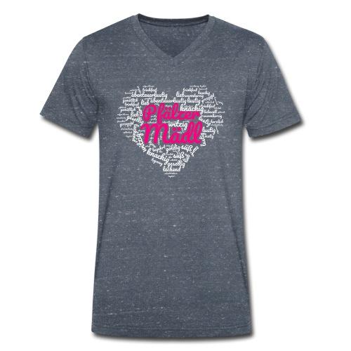Herzl: Pfälzer Mädl - Männer Bio-T-Shirt mit V-Ausschnitt von Stanley & Stella