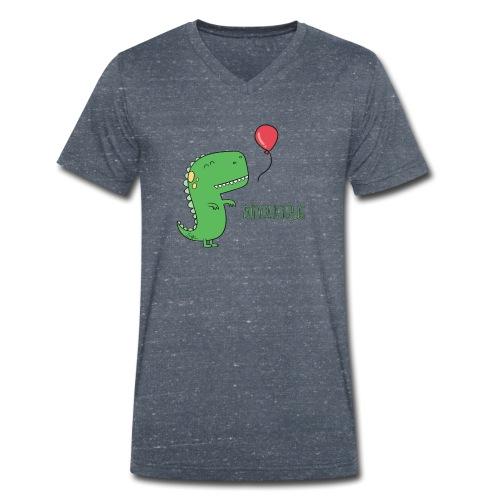 Dinolicious - T-shirt ecologica da uomo con scollo a V di Stanley & Stella