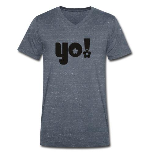 Yo power - Økologisk Stanley & Stella T-shirt med V-udskæring til herrer