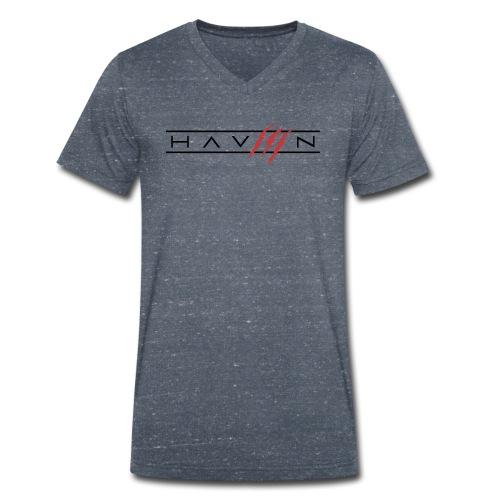 Logo Zwart - Mannen bio T-shirt met V-hals van Stanley & Stella