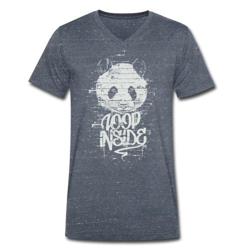 Graffiti Panda Inside - Männer Bio-T-Shirt mit V-Ausschnitt von Stanley & Stella