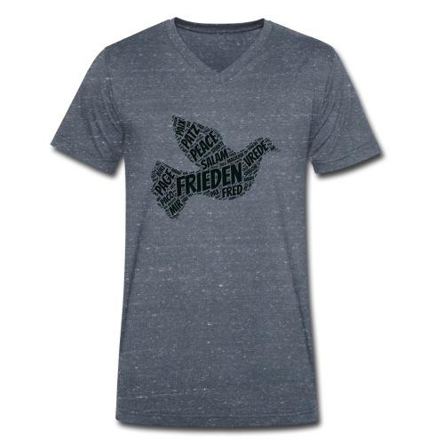 Frieden Taube Peace Pace Mir - Männer Bio-T-Shirt mit V-Ausschnitt von Stanley & Stella