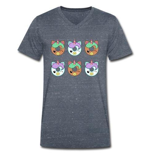 Unicorn Donut - T-shirt ecologica da uomo con scollo a V di Stanley & Stella
