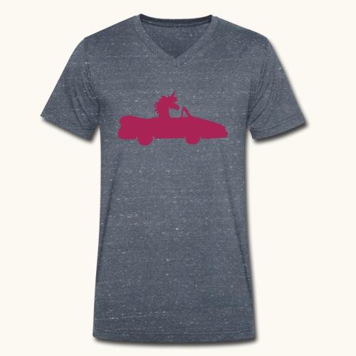 Cadeau de permis de conduire drôle de voiture de la Licorne convertible - T-shirt bio col V Stanley & Stella Homme