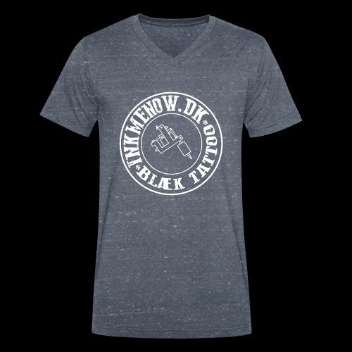 logo hvid png - Økologisk Stanley & Stella T-shirt med V-udskæring til herrer