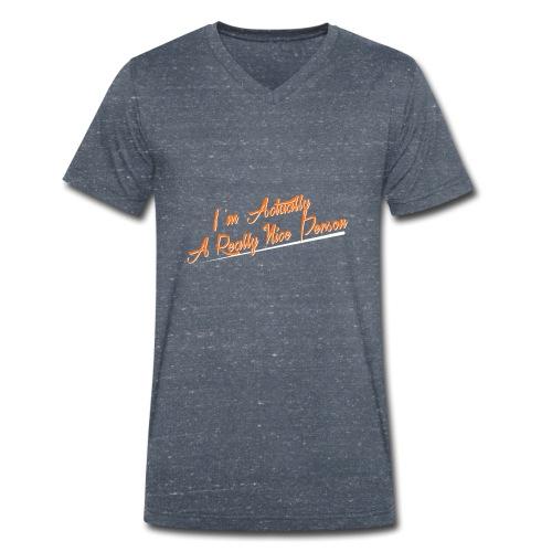 nice-person - Men's Organic V-Neck T-Shirt by Stanley & Stella