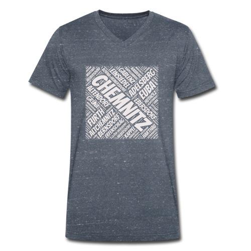 Chemnitz Stadtteile - Männer Bio-T-Shirt mit V-Ausschnitt von Stanley & Stella