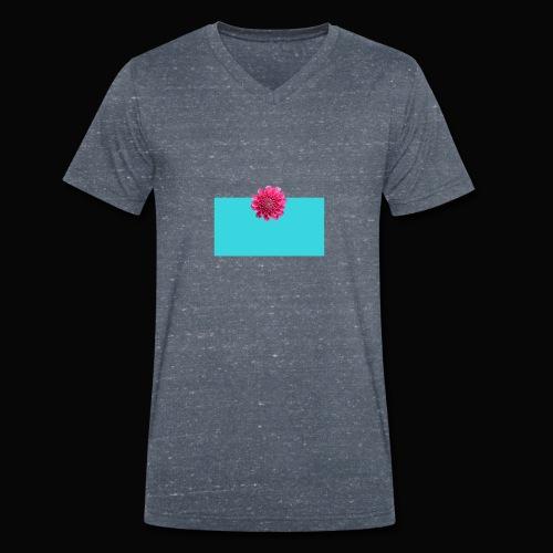 flower - Økologisk T-skjorte med V-hals for menn fra Stanley & Stella