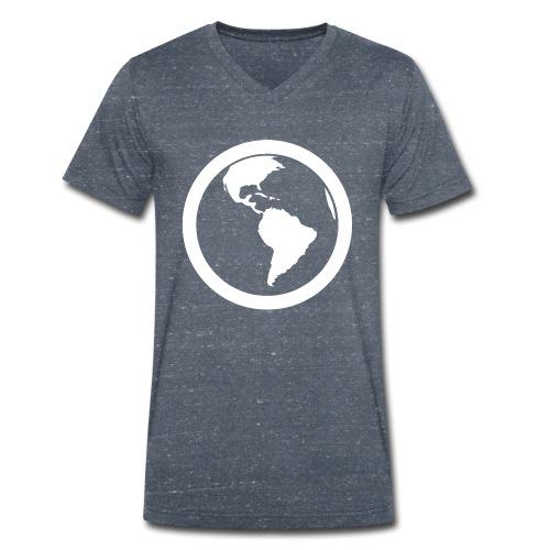 Earth - T-shirt ecologica da uomo con scollo a V di Stanley & Stella