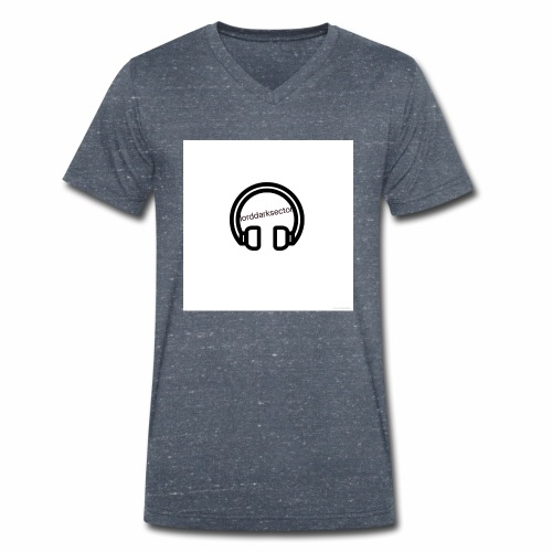 Headphones - Men's Organic V-Neck T-Shirt by Stanley & Stella