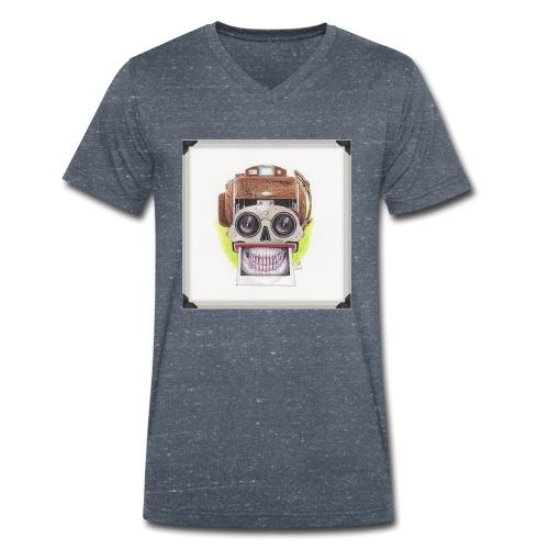 happy skull stereo cam - Männer Bio-T-Shirt mit V-Ausschnitt von Stanley & Stella