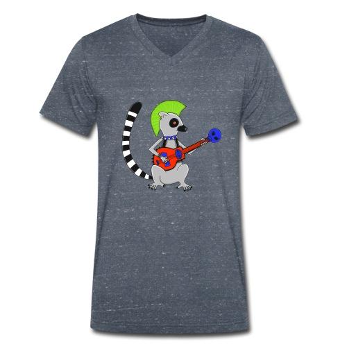 Katta-Punk - Männer Bio-T-Shirt mit V-Ausschnitt von Stanley & Stella