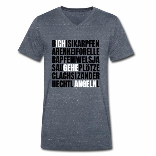 Ich gehe Angeln Angel Fish Fisch Fishing Fishyworm - Männer Bio-T-Shirt mit V-Ausschnitt von Stanley & Stella