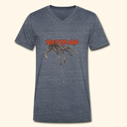 Talk To The Hand - Mannen bio T-shirt met V-hals van Stanley & Stella