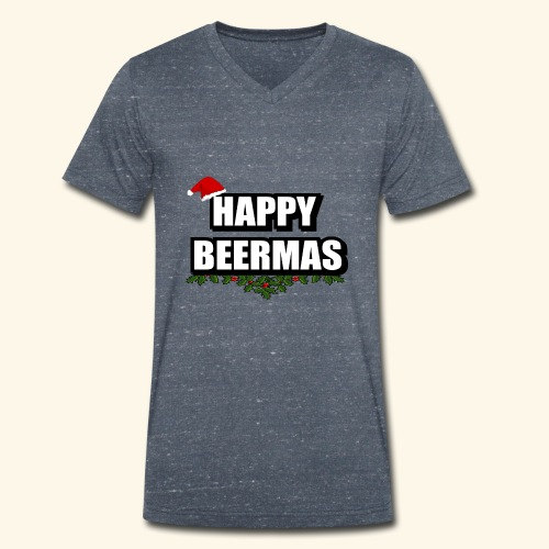 HAPPY BEERMAS AYHT - Men's Organic V-Neck T-Shirt by Stanley & Stella