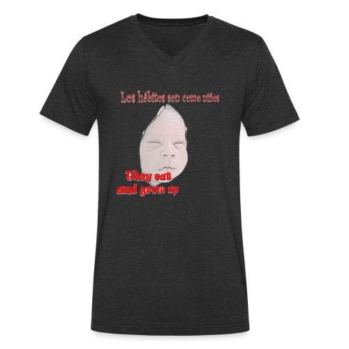 hábitos boy - Camiseta ecológica hombre con cuello de pico de Stanley & Stella