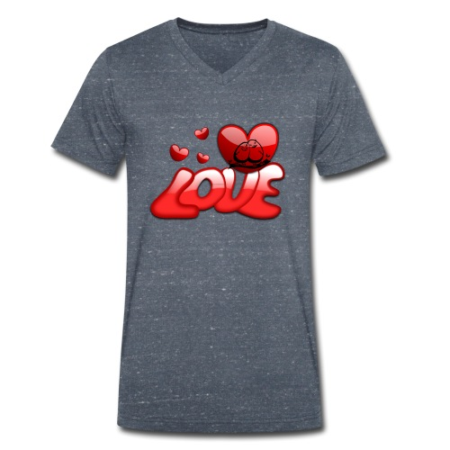 love - Männer Bio-T-Shirt mit V-Ausschnitt von Stanley & Stella