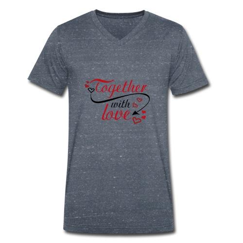 auguri San Valentino 01 - T-shirt ecologica da uomo con scollo a V di Stanley & Stella