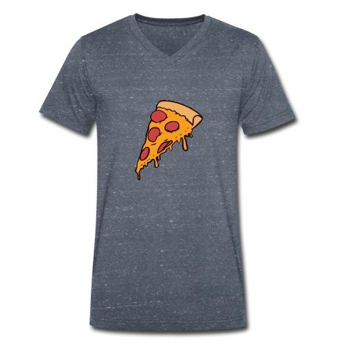 Pizza - Camiseta ecológica hombre con cuello de pico de Stanley & Stella