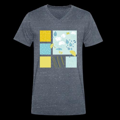 Sommerregen Liebe - Männer Bio-T-Shirt mit V-Ausschnitt von Stanley & Stella
