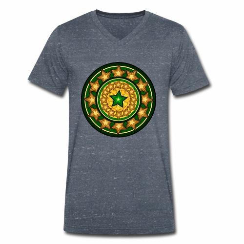 Sternenmuster - Männer Bio-T-Shirt mit V-Ausschnitt von Stanley & Stella