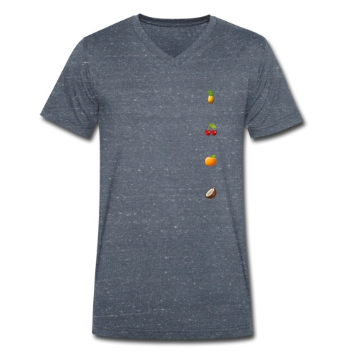 All fruits - Mannen bio T-shirt met V-hals van Stanley & Stella