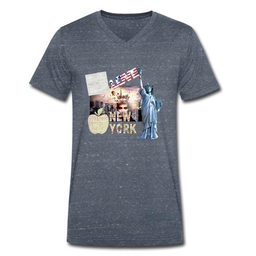 Love New York - Männer Bio-T-Shirt mit V-Ausschnitt von Stanley & Stella
