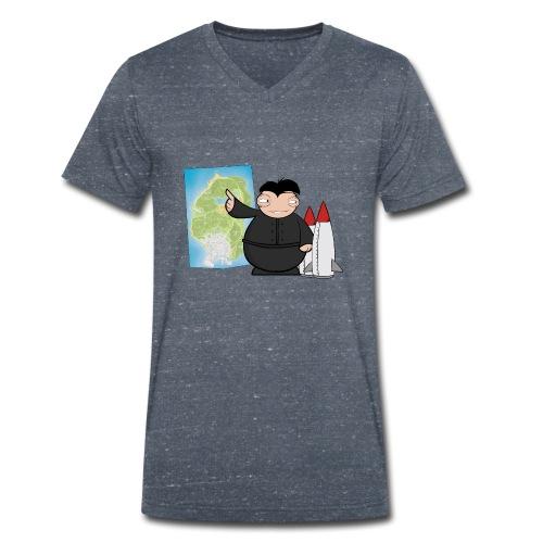 Happy Dictator. - Camiseta ecológica hombre con cuello de pico de Stanley & Stella
