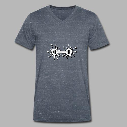 Hantel Splash - Männer Bio-T-Shirt mit V-Ausschnitt von Stanley & Stella