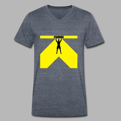 Fitness Lift - Männer Bio-T-Shirt mit V-Ausschnitt von Stanley & Stella