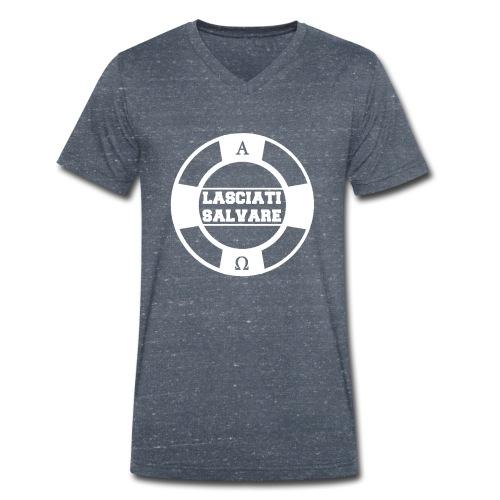 Lasciati salvare B - T-shirt ecologica da uomo con scollo a V di Stanley & Stella