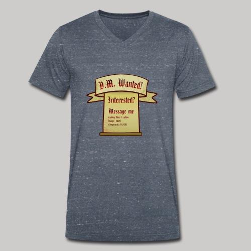 DM Wanted! - Männer Bio-T-Shirt mit V-Ausschnitt von Stanley & Stella