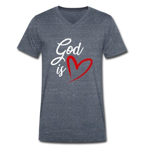 God is love 2B - T-shirt ecologica da uomo con scollo a V di Stanley & Stella