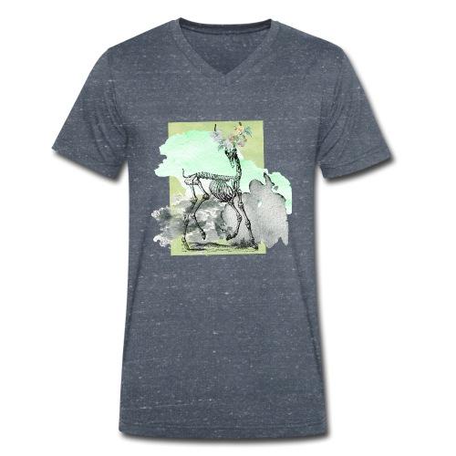 Flowery Deer Skeleton - Männer Bio-T-Shirt mit V-Ausschnitt von Stanley & Stella
