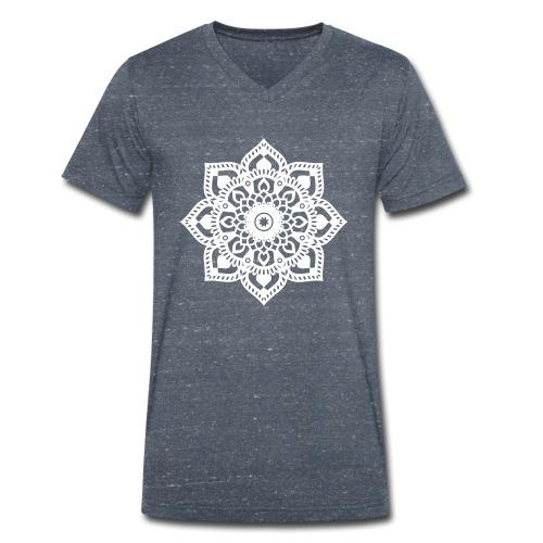 Happy Yoga Mind Mandala negativ - Männer Bio-T-Shirt mit V-Ausschnitt von Stanley & Stella