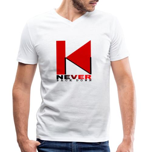 NEVER BACK DOWN - T-shirt bio col V Stanley & Stella Homme