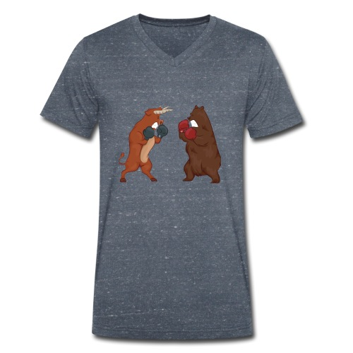 Bull and bear - Men's Organic V-Neck T-Shirt by Stanley & Stella